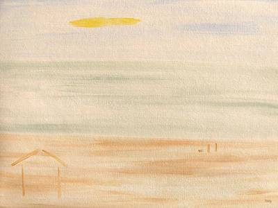 The Beach Hut Print by Patrick J Murphy