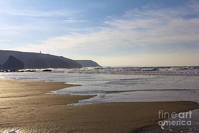 The Beach Porthtowan Print by Brian Roscorla