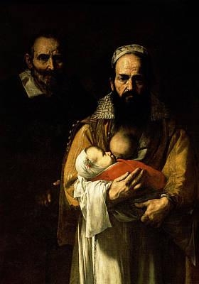 Fed Painting - The Bearded Woman Breastfeeding, 1631 by Jusepe de Ribera