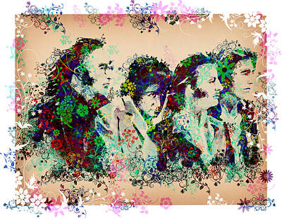 Beatles Digital Art - The Beatles 10 by Bekim Art