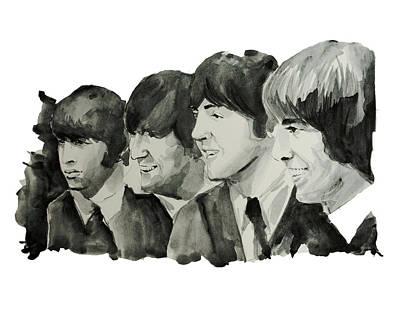 The Beatles 2 Print by Bekim Art