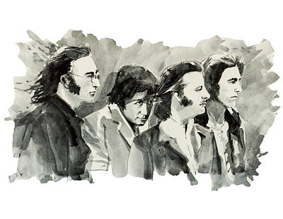 Beatles Drawing - The Beatles 3 by Bekim Art
