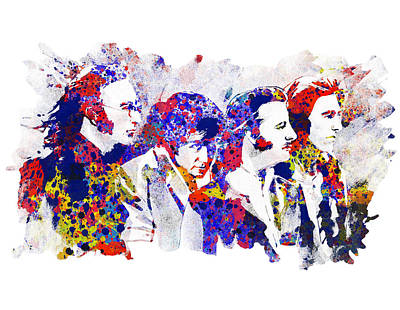 Beatles Drawing - The Beatles 4 by Bekim Art
