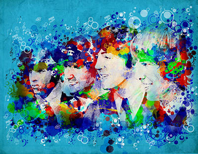 Beatles Digital Art - The Beatles 6 by Bekim Art