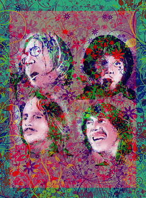Beatles Digital Art - The Beatles 8 by Bekim Art