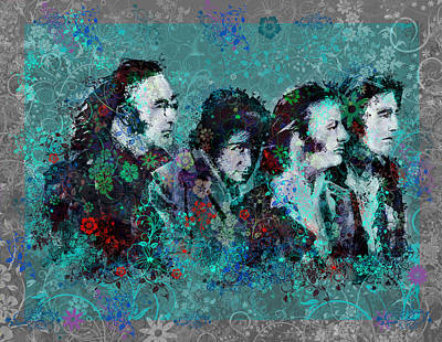 Beatles Digital Art - The Beatles 9 by Bekim Art