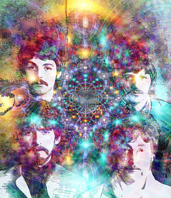 Paul Mccartney Digital Art - The Beatles by D Walton