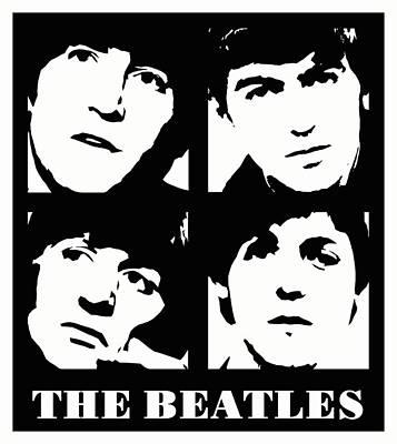 Ringo Digital Art - The Beatles by David G Paul