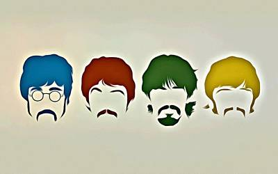 Beatles Painting - The Beatles by Florian Rodarte