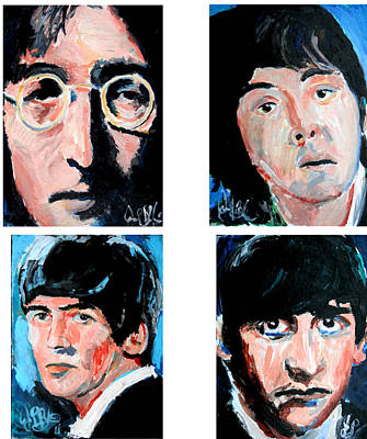 Painting - The Beatles  by Jon Baldwin  Art