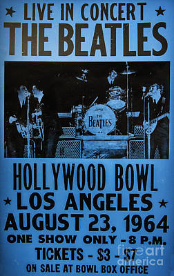 Hollywood Bowl Photograph - The Beatles Live At The Hollywood Bowl by Mitch Shindelbower