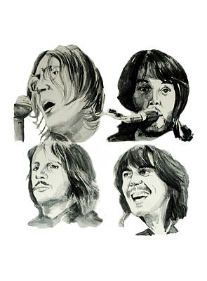 Beatles Drawing - The Beatles by Bekim Art