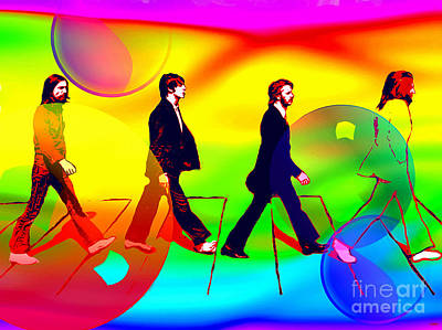 Abbey Road Painting - The Beatles Painting by Daniel Janda
