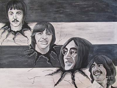 Abbey Road Painting - the Beatles the Roots by Jeepee Aero