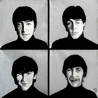 The Beatles Print by Tom Carlton