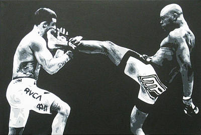 Ufc Painting - The Beautiful Kick by Geo Thomson