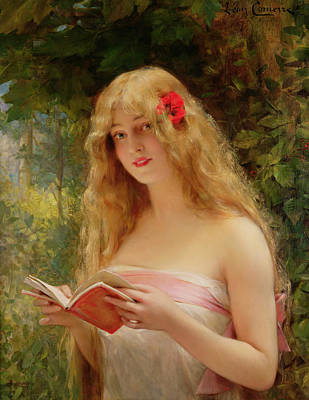 The Beautiful Reader Print by Leon Francois Comerre