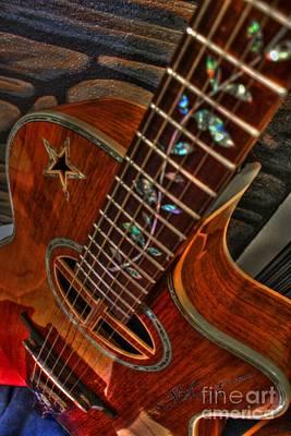 The Beauty Of A Six String Digital Guitar Art By Steven Langston Print by Steven Lebron Langston