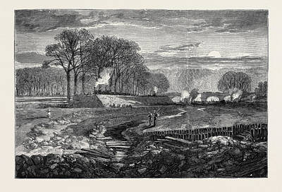 Hyde Park Drawing - The Bed Of The Serpentine, Hyde Park by English School