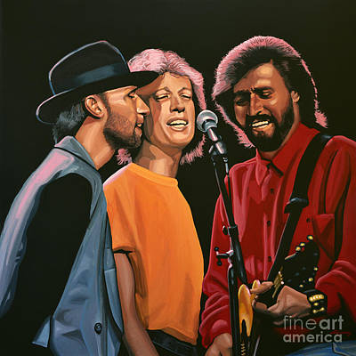 Vocalist Painting - The Bee Gees by Paul Meijering