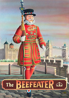 Tower Of London Painting - The Beefeater by Peter Green