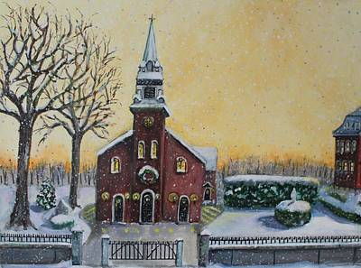 Impressionistic Landscape Painting - The Bells Of St. Mary's by Rita Brown