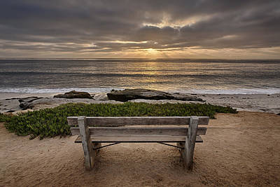 High Dynamic Range Photograph - The Bench IIi by Peter Tellone
