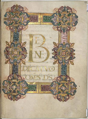 Book Illustrations Photograph - The Benedictional Of St Aethelwold by British Library