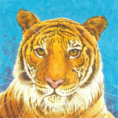 The Tiger Painting - The Bengal Tiger by Joyce Hensley