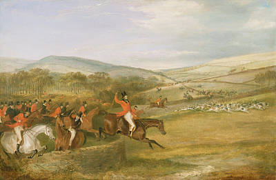 The Berkeley Hunt, Full Cry, 1842 Print by Francis Calcraft Turner