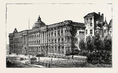 Berlin Drawing - The Berlin Congress by German School