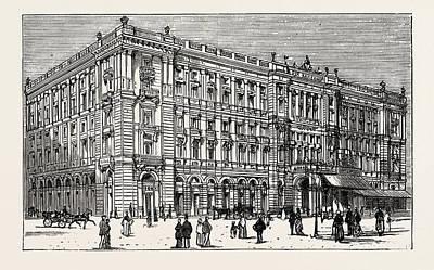 Berlin Drawing - The Berlin Congress,the Kaiserhof by German School