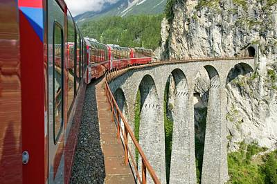 Bahn Photograph - The Bernina Glacier Express by Ashley Cooper