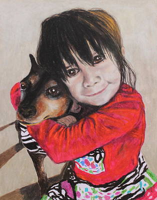 Dog Portrait Painting - The Best Of Friends by Jeanne Fischer