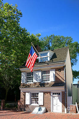 Phillies Photograph - The Betsy Ross House by Olivier Le Queinec