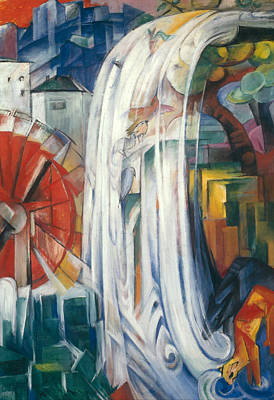 Water Mills Painting - The Bewitched Mill by Franz Marc