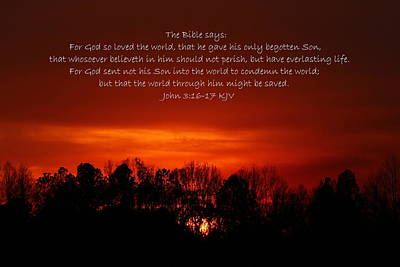 King James Bible Photograph - The Bible Says by Reid Callaway