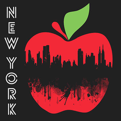 Big Cities Digital Art - the Big Apple by Mark Ashkenazi