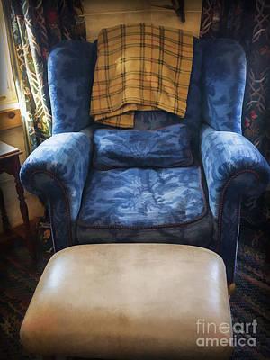 The Big Blue Chair - Oil Print by Edward Fielding