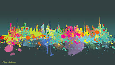 Big Cities Digital Art - The Big City  by Mark Ashkenazi