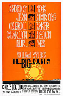 The Big Country, Us Poster Art Print by Everett