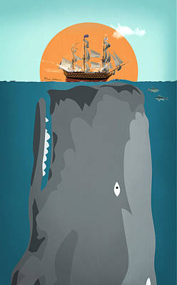 Dick Digital Art - The Big Fish by Mark Ashkenazi