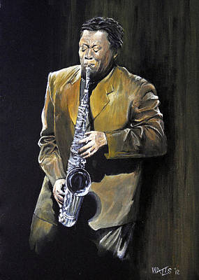 The Big Man - Clarence Clemons Original by William Walts