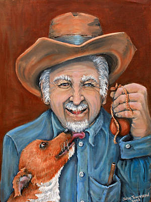 Lucky Dogs Painting - The Big Reward by Julie Townsend