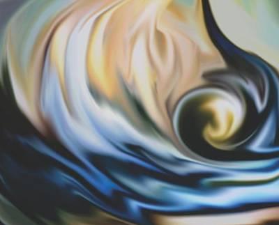 The Big Wave Print by Jessie J De La Portillo