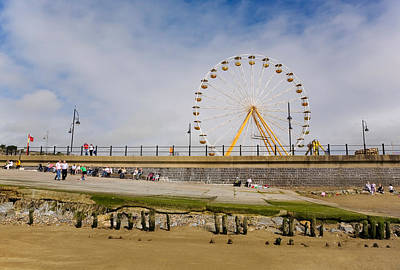 Funfair Photograph - The Big Wheel And Promenade, Tramore by Panoramic Images