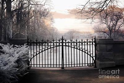The Biltmore House Gates - Biltmore Estate Mansion Gate Nature Landscape Print by Kathy Fornal