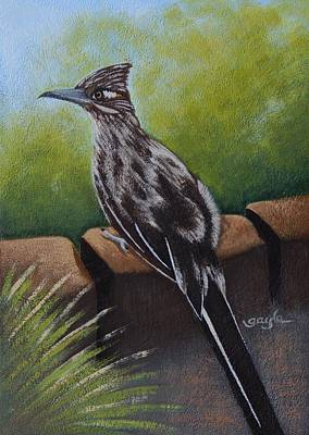 Road Runner Painting - The Bird Is The Word by Gayle Faucette Wisbon