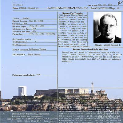 The Birdman Of Alcatraz San Francisco 20130323v2 Square Print by Wingsdomain Art and Photography