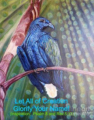 With Scripture Painting - The Birds In The Heavens Glorify Your Name by Kimberlee Baxter